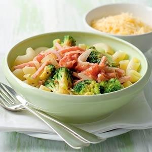 Recept - Macaroni met broccoli en ham in roomsaus - Allerhande