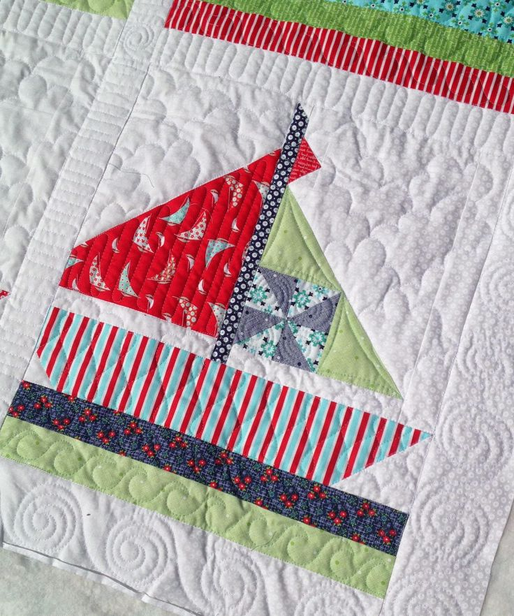 Sailing Away Quilt by Bonnie of Cotton Way; Machine Quilted by Molly Kohler of Lovely Threads