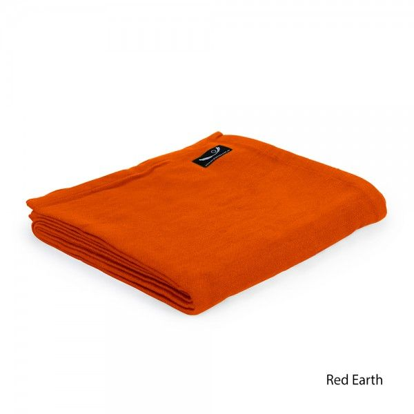 Yoga Blanket - Organic Cotton in Red Earth