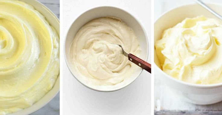 Tvarohový,máslový a smetanový krém
