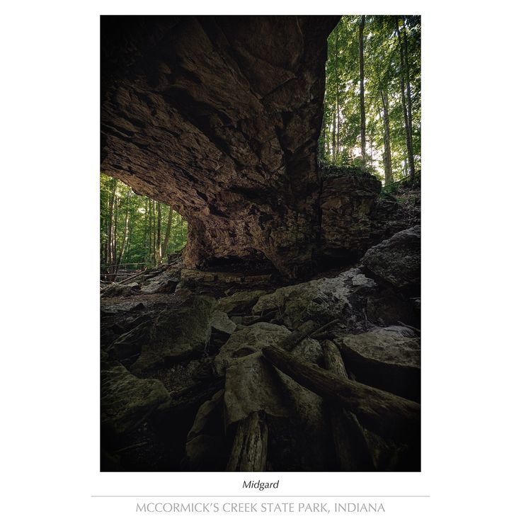 sinequanon:  Midgard (color)  Underneath the outer edge of Wolf Cave located in McCormicks Creek State Park Indiana.  Sine Qua Non Photography: images by Nathanael Handlang  Instagram - Facebook - Flickr Follow us on Facebook http://ift.tt/1ZBR6Ym