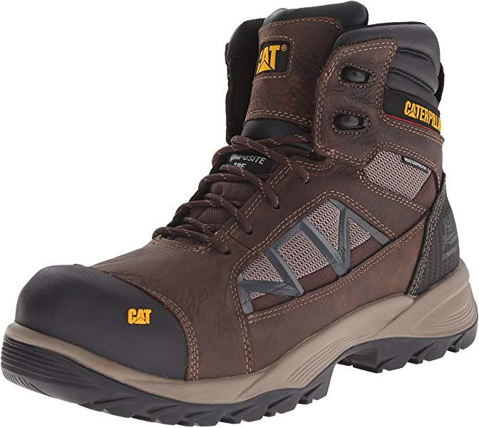 Amazon Com Caterpillar Men S Compressor 6 Inch Waterproof Comp Toe Work Boot Clay 7 5 M Us Shoes Boots Work Boots Boots Men