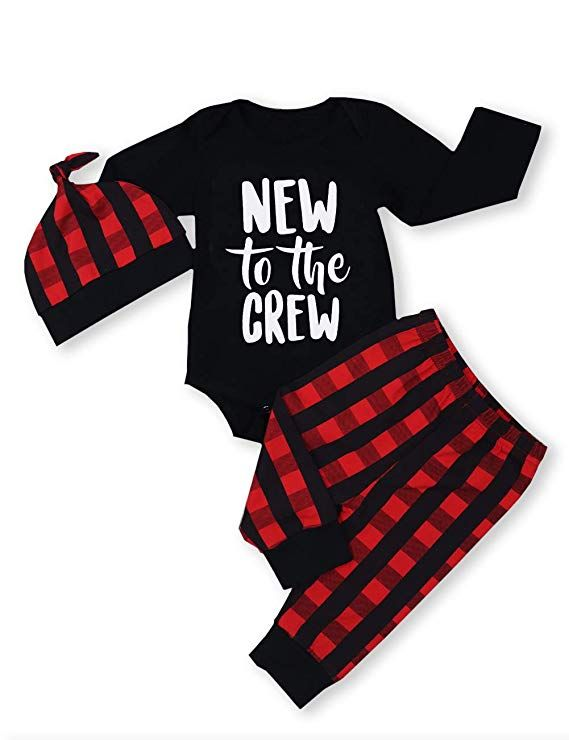 6bef753fa Newborn Baby Boy Girl Clothes Little Man Long Sleeve Romper,Plaid Pants + Cute  Hat