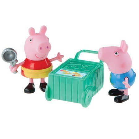 Peppa Pip Peppa and George Ice Cream Time Figures Pack, Assorted