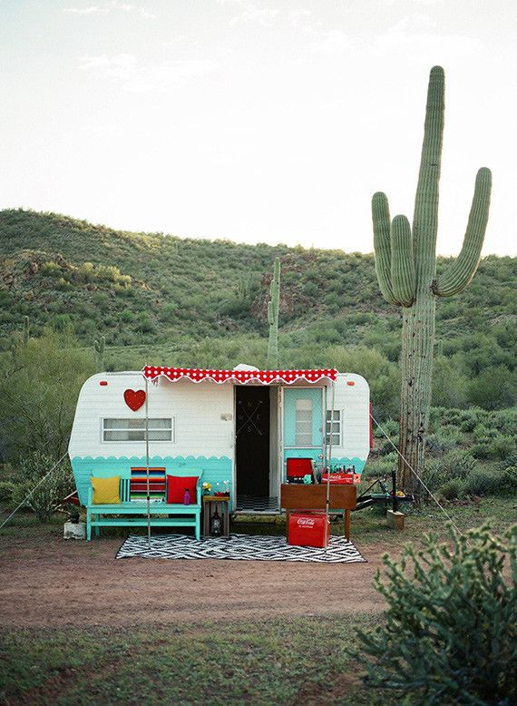 This sweet shoot by Lynette of Hovering Heart Photography looks like the perfect way to welcome summer for a group of young girls. That camper and cactus! Wouldn't you love to spend the weekend right