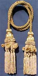 """Chair tie 40"""" Cord with two 7.5"""" French Beaded Tassels"""