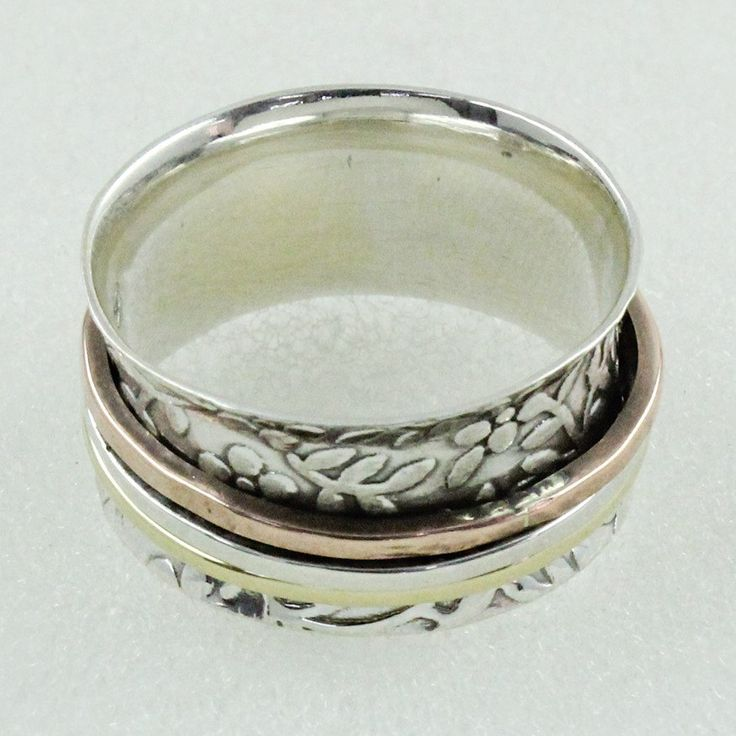 AMAZING DESIGN !! 925 Sterling Silver Spinner Ring _ Jaipur Silver India by JaipurSilverIndia on Etsy