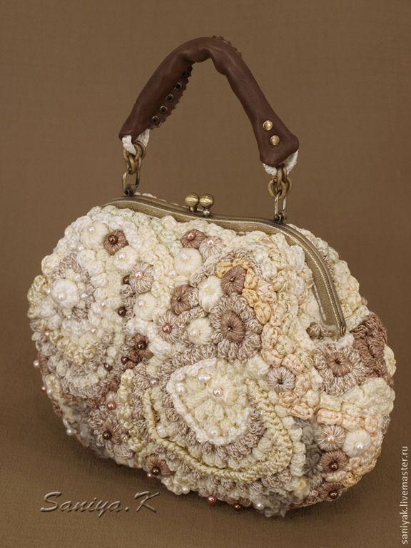 freeform crochet purse