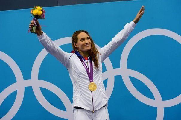 Camille Muffat replonge dans le bassin olympique