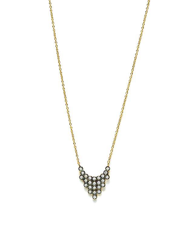 CHARNIERES pendant, yellow & black gold 18K, with brilliant-cut diamonds