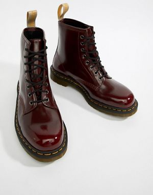 a0a6f74976 Dr Martens 1460 Vegan 8-Eye Boots In Red | Vegan Friendly <3 in 2019 ...