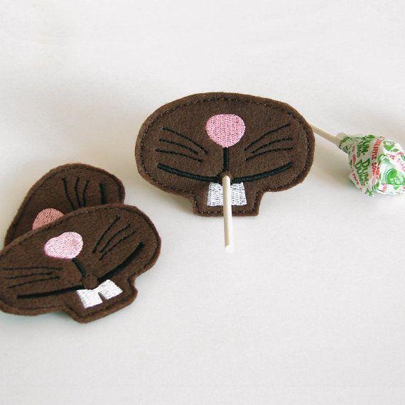 Easter Bunny Nose  Lollipop Holders