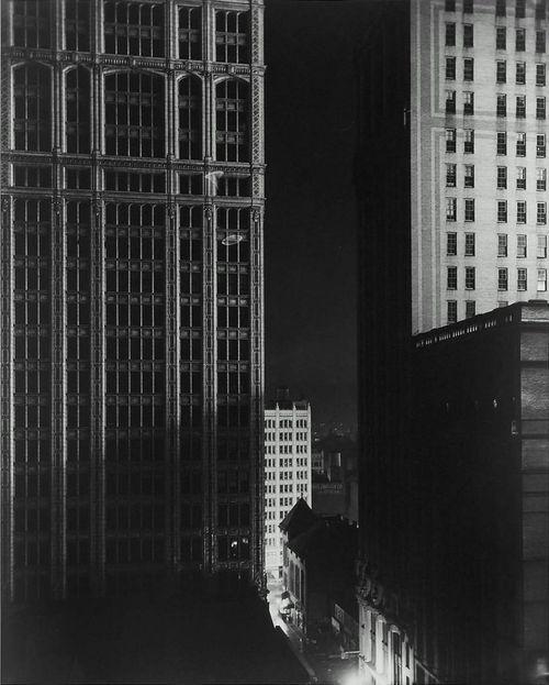 Edward Steichen, Sunday Night, 40th Street, negative 1925