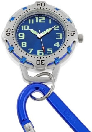 FMD Blue Dial Carabiner Clip Watch, Amazon Gold Box Deal through 2/26/2012, (list price: $59) Deal Price: $4.99.