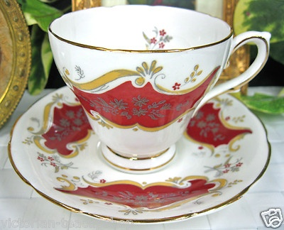 Sutherland Red Tea Cup and Saucer Duo Awesome Teacup | eBay