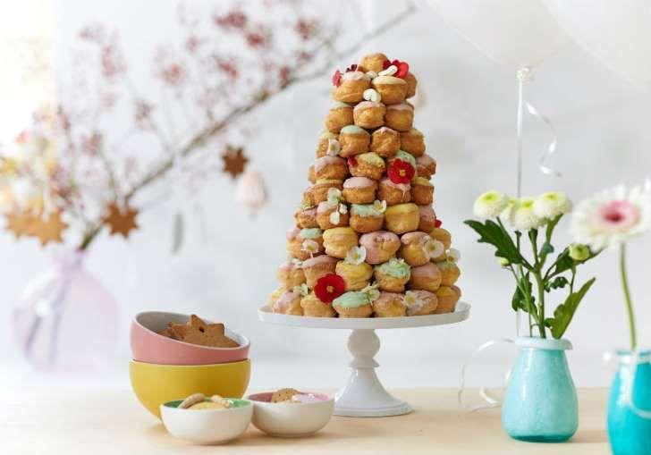 Torre de doces em festa infantil