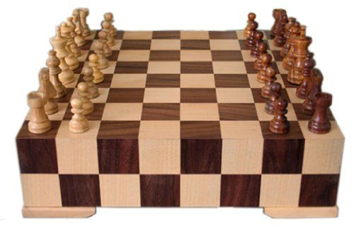 Dorothy 12.5 Chess Set in Maple - Solid Hard Wooden Box Style - List price: $79.99 Price: $49.95 Saving: $30.04 (38%)