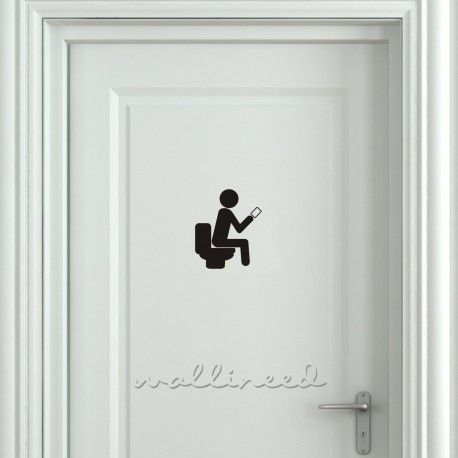 Funny Smartphone Addiction Toilet Sign