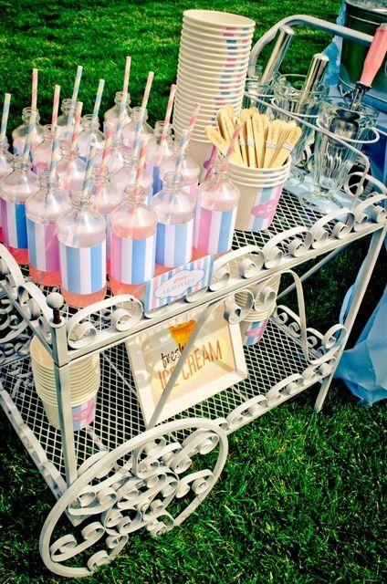 "Photo 1 of 27: Ice Cream Party / Birthday ""Little Ice Cream Shop"" | Catch My Party"