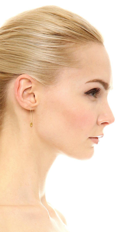 Jacquie Aiche JA Saftey Pin Earring | SHOPBOP