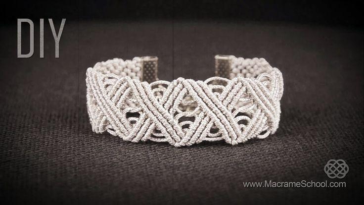Eternal Zig Zag Lines X pattern Bracelet in Vintage Style   DIY