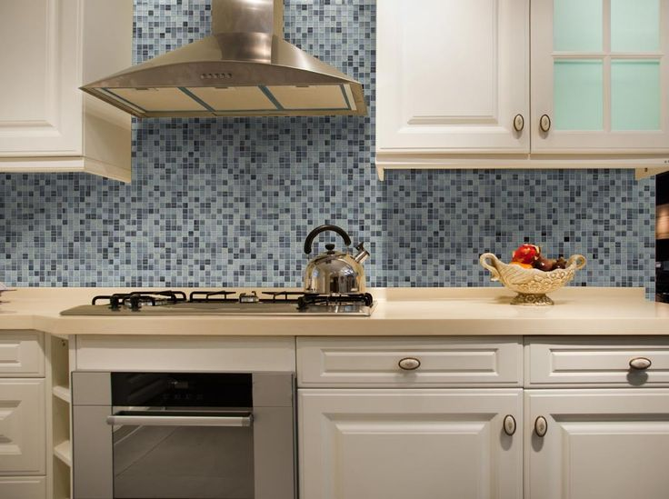 mineral tiles diy network tile backsplash kit 15ft blue