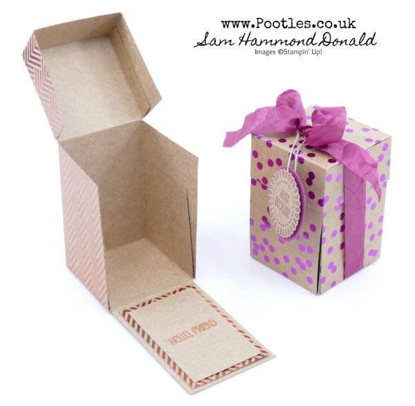 Stampin' Up! Demonstrator Pootles -Foil Frenzy Drop Fronted Treat Box Tutorial
