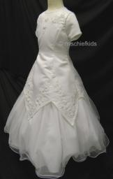 ZAIRE White Communion Dress 6 to 10 years