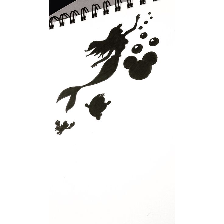 Sketch of something that would make a really cute small tattoo inspired by Disney's The Little Mermaid