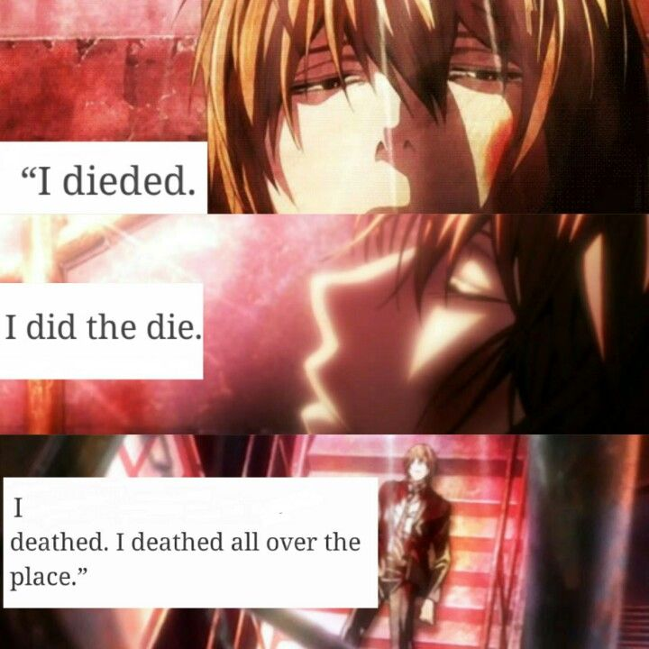 """""""Death Note."""" Poor Light, deathing all over the place. XD"""