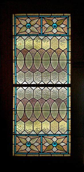 Victorian Venetian Stained Glass Window In Sliding Pocket Doors
