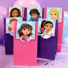 Bolsas de chuches de Dora La Exploradora y amigos para imprimir