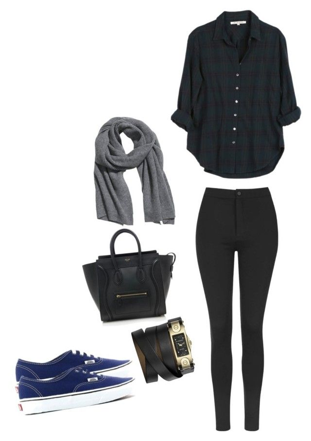 """Untitled #5"" by snursehaa on Polyvore featuring CÉLINE, Topshop, Xirena, Givenchy, Vans and H&M"
