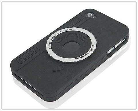 Funny Cool 3D Silicone Camera Case for iPhone 4 / 4S - Black $1.99 www.myphonecase.com
