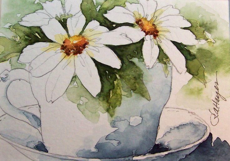daily watercolors: Watercolor Art, Paintings Small, Rose Anne, Daily Watercolor, Art Watercolor, Watercolor Paintings, Paintings Large, Watercolor Flower, Roseanne Hay
