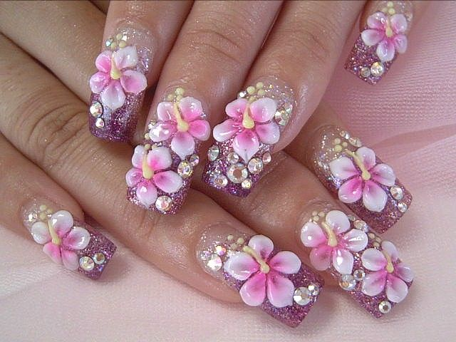 3D nail art wouldn't have it on every nail but it's pretty