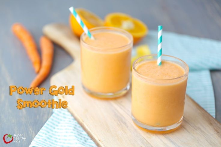 Power Gold Smoothie | Super Healthy Kids - Switch it up from green smoothies to the goodness of orange fruits and veggies!