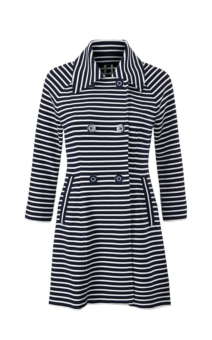 The Maritime Trench.  Isn't it everything? Nautical and ponte - you can't beat that!  One of the 5 Fashion Flash pieces can be ordered now!  jeanettemurphey.cabionline.com  If you hostess a show in February, you can get it for 50% off!  Contact me to schedule your show.