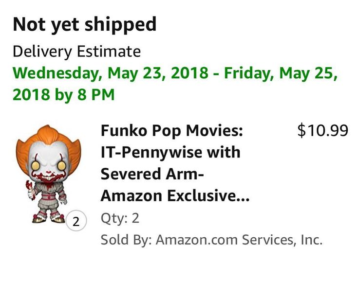 Came up empty today with chases. However I was able to get this cool pop ordered!! Check out the delivery date  #pops #funkopops #collection #addiction #collector #utah #saltlakecity #it #stephenkingit #amazon #amazonexclusive #awesome #funkofamily
