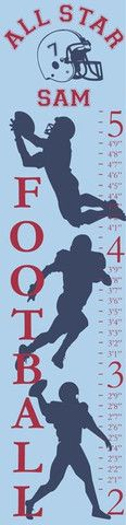 Personalized Football Canvas Growth Chart | Jack and Jill Boutique