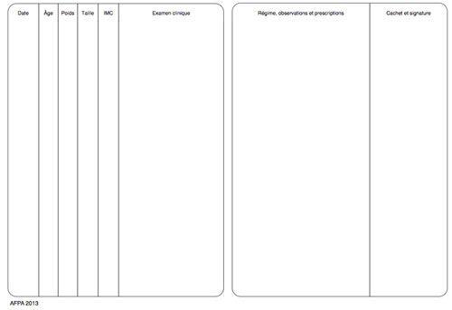 Pages carnet de santé