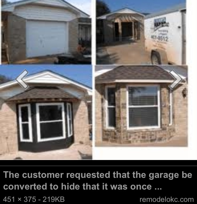 32 best images about converted garage on pinterest for Convert two door garage into one