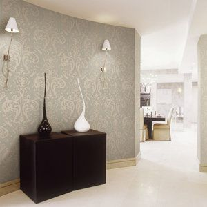 Castle - Ivory wallpaper design.  $396.00 including GST for a 1.06m wide x 15.5m drop (16m2 - enough for a large feature wall). Sample available. From www.silkinteriors.com.au