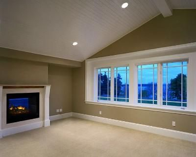 Beadboard Vaulted Ceiling With Recessed Lighting Bonus