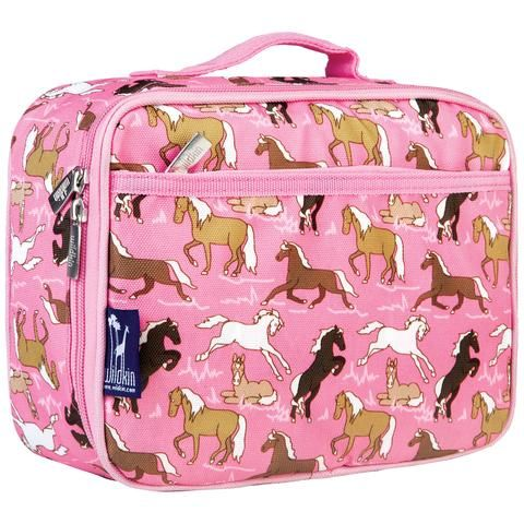 Wildkin Insulated Lunch Bag - Pink Ponies. Perfect for horse fans! Available from www.thelunchboxqueen.co.nz
