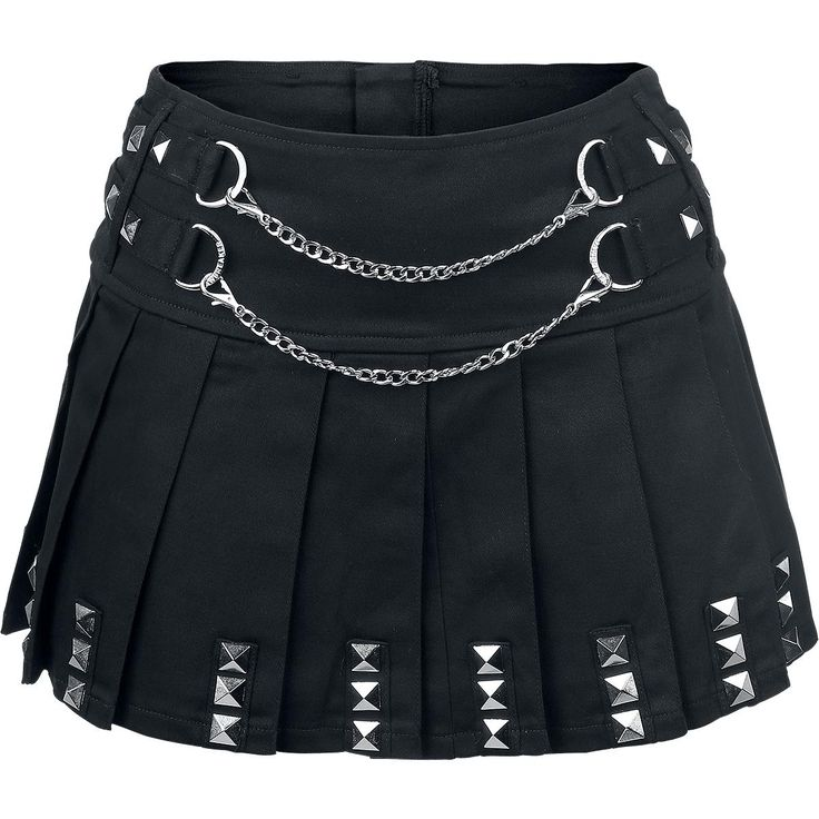 Jawbreaker  Short skirt  »Punk Skirt« | Buy now at EMP | More Gothic  Short skirts  available online ✓ Unbeatable prices!