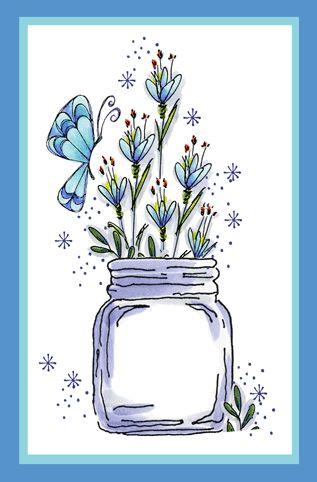 Butterfly Jar Card