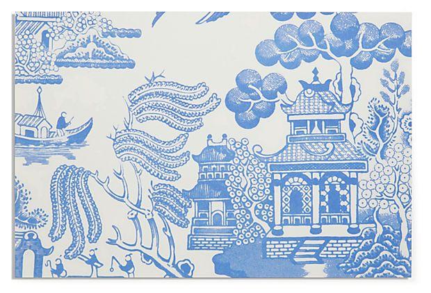Blue Willow Paper Placemats Home Decor Pinterest