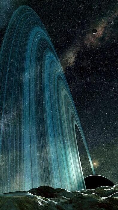 Rings of Saturn podrá sonar loco pero mientras muchas personas le piden a Dios ver el cielo antes de llegar a el yo solo le pido caminar por los anillos de Saturno t contemplar el universo