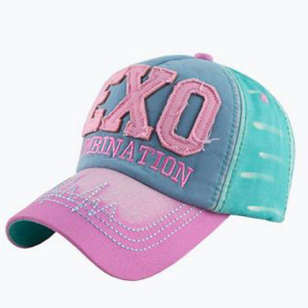 Fashion Women's Letters Embroidery and Rag Embellished Short Stripe Pattern Visor #hats, #watches, #belts, #fashion, #style